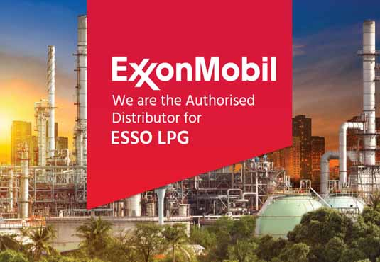 We are authorized distributor for Exxon Mobil's Esso LPG